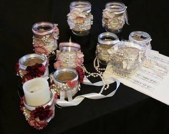 Table Centerpieces  Weddings or Vintage Tea Party