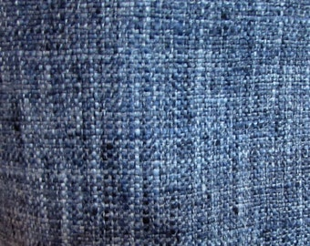 very french RUSTIC WOVEN indigo blue / lots of textures tweed multipurpose fabric
