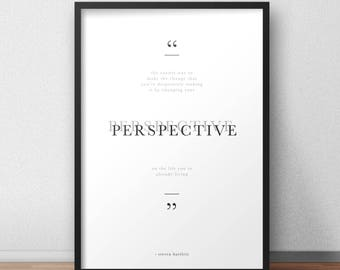 Life Perspective / Steven Bartlett poster / print / quote / typography / minimalistic A4 A3 A2 A1