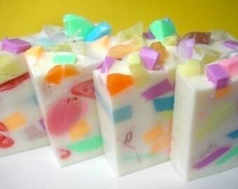 Birthday Cake Soap, Confetti Soap,  Birthday Soap, Soap for Kids, Dessert Soap, Party Favor Soap, Childrens Soap, Teen soap, Cake Soap