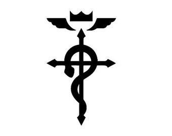 Full Metal Alchemist Flamel Cross Decal
