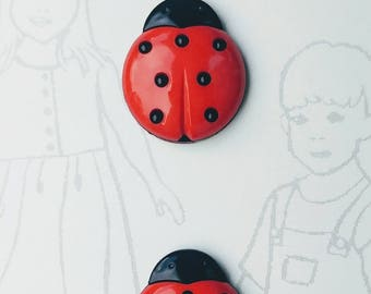 Belle Ladybug buttons by Dritz
