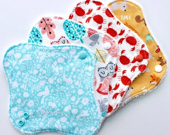 Cloth panty liners - made with cotton and bamboo towelling or velour - washable CSP