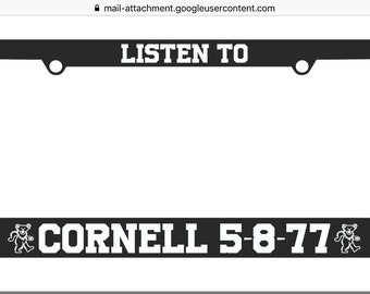 Grateful Dead license plate frame / Cornell / 5-8-77