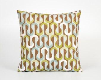 Geometric Throw Pillow Cover 18x18. Mid Century Modern Decor. Retro Pillow Cover. Retro Throw Pillow. Mid Century Modern Pillow Cover