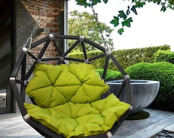 Geodesic dome semisphere swing chair