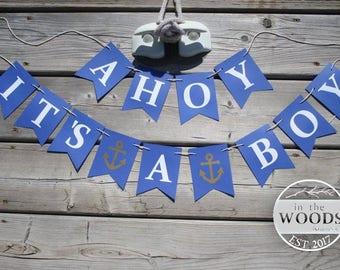 Nautical Baby Shower Banner | Etsy