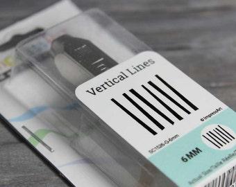 Vertical Lines Design Stamp, 6mm Design Stamp, Lines Stamp, Texture Stamp, Large Design Stamp, Metal Stamping, Stamping Tool, INV3046