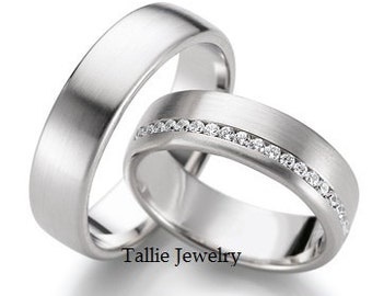 Platinum HisHers Rings TallieJewelry