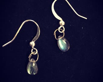 Small Labradorite Earrings