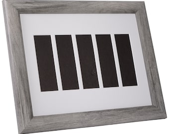Photo Booth Wedding Event Frame- Holds 5- 2x6 Photo Strips with Mat to Display, Cherish and Preserve your Wedding, Bridesmaids & Grooms