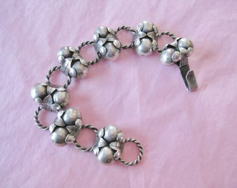 Mexican Silver Link Bracelet Signed