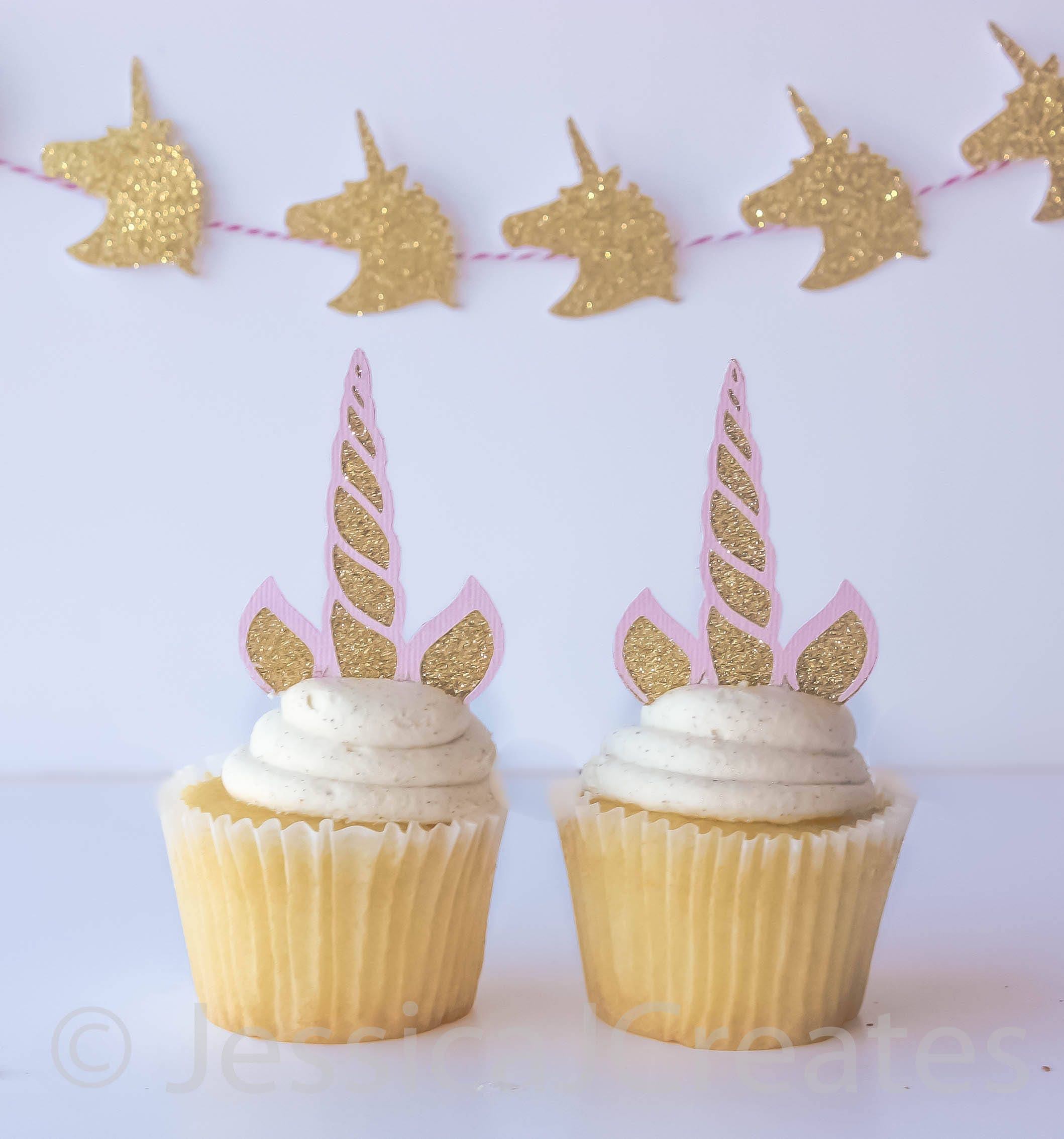 Unicorn Cupcake Toppers Unicorn Horn Cupcake Toppers