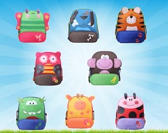 PERSONNALISÉ sac à dos, sac à dos personnalisé. Sac à dos d'âge préscolaire, les enfants à dos, sac à dos en forme de Animal