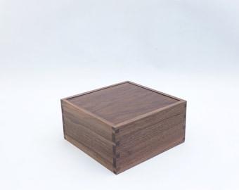 American Black Walnut jewellery box, trinket box, keepsake