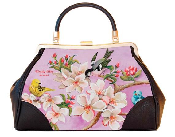 Retro handbag, vintage handbag, Bloom, Valentine gift, gift for her, gift for mom, Woody Ellen handbag, christmas gift, wedding gift ideas