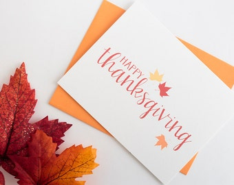 Thanksgiving Card Fall Stationery Blank Thanksgiving Greeting Card Happy Thanksgiving Greeting Card Blank Fall Greeting Card