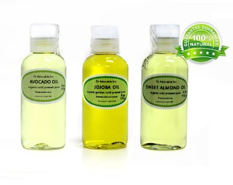 12oz , 4 oz Sweet Almond Oil, 4 oz Avocado Oil, 4 oz Golden Pure Jojoba Oil