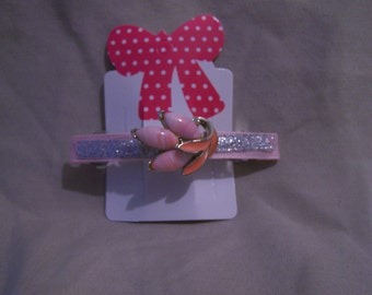 Pretty in Pink, one of a kind hair barrette.