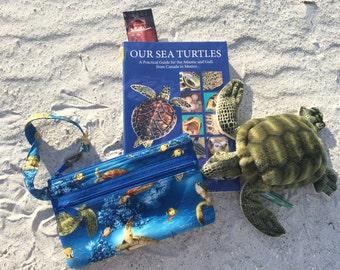 Sea Turtle Wristlet Purse