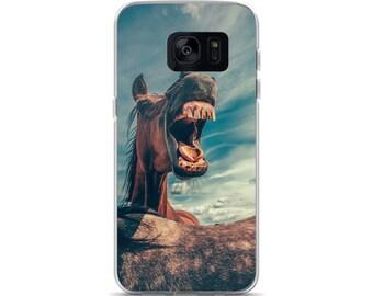 Funny Horse Samsung Phone Case, S7, S7 Edge, S8, S8+, S9, S9+, Horse Owner Gift, Horseback Rider Phone Case, Horse Gift, Wild Horse Case