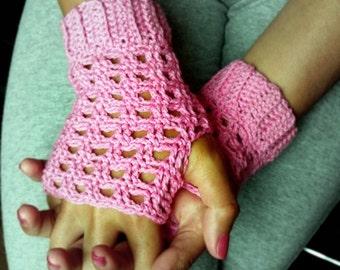 Rose Crocheted Fingerless Gloves - PDF Crochet Pattern