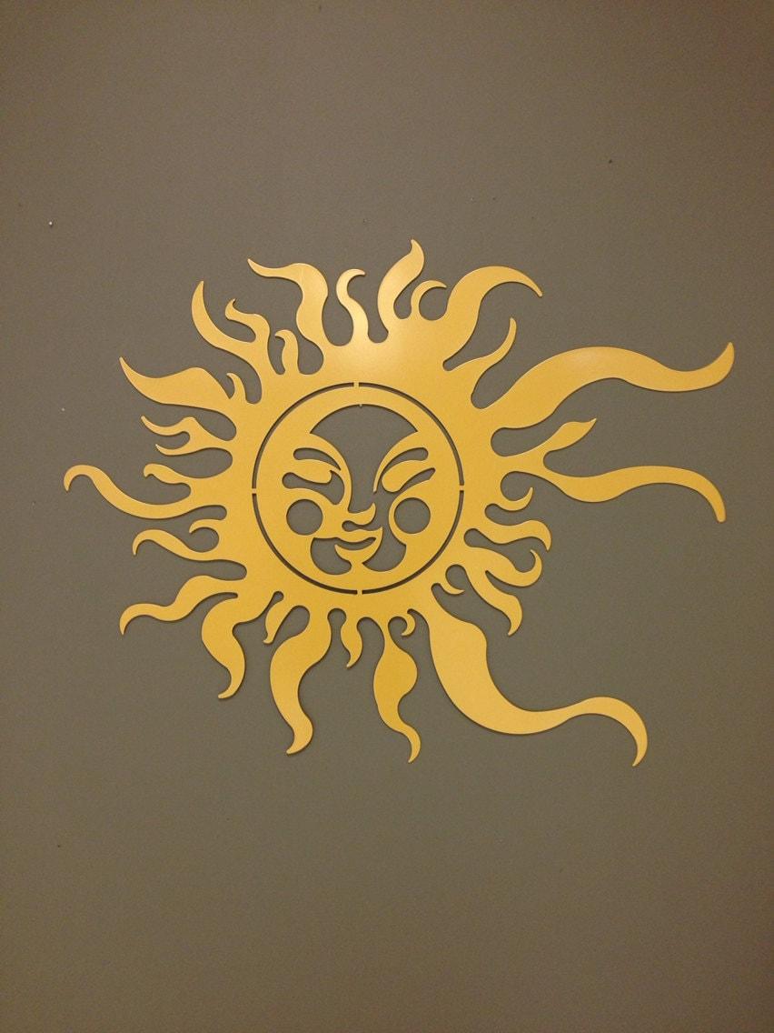 Summer Sun Metal Wall and Garden Art 36x24