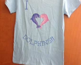 I love dolphins shirt for women
