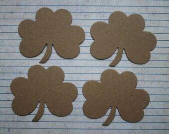 4 medium shamrock bare chipboard die cuts die cuts