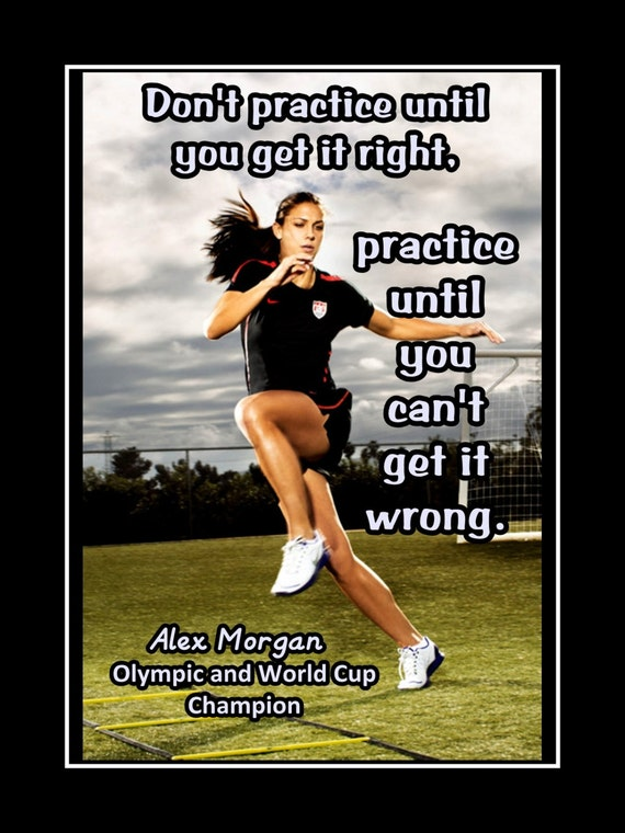 Soccer women motivation quote poster gift champion photo voltagebd