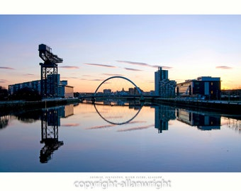 Pacific Quay Sunrise, Glasgow
