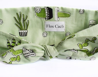 Cacti Headband - Green Succulents Headband - Cactus Headbands