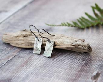 Fern Leaf Drop Earrings Handmade Ecosilver Oxidised Earrings, Woodland Inspired, Gift for Her