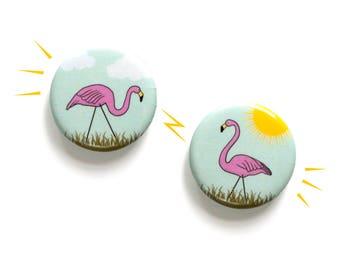 Flamingo Magnet Set