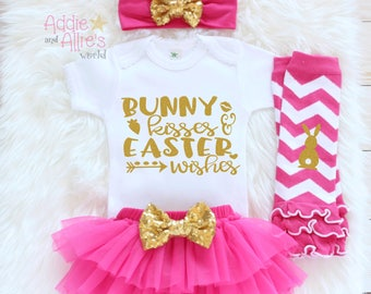My First Easter 2018, Baby First Easter Outfit, Baby Easter Clothes, Baby 1st Easter Outfit, Baby Girl Easter Outfit, Baby Easter Gift, E7HP