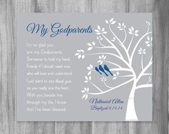 God parents gift etsy gift for godparents from godchild personalized godmother gift baptism christening god parent tree art print unique poem canvas print m4hsunfo
