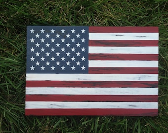 Distressed American Flag Wood Sign - Rustic American Flag wood sign - American Flag - Patriotic Decor - Wall Flag