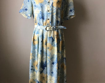 vintage pastel floral tea dress
