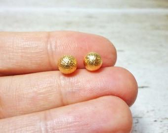 Textured Ball Stud Earrings, Dainty Earrings