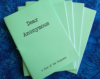 Dear Anonymous 1-5 Zine Bundle