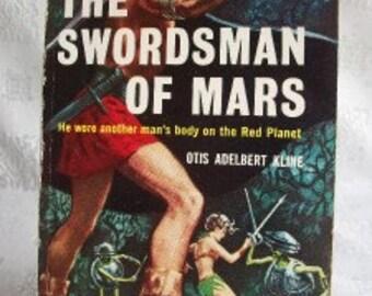 The Swordsman Of Mars By Otis Adelbert Kline 1960 SB Ace D-516