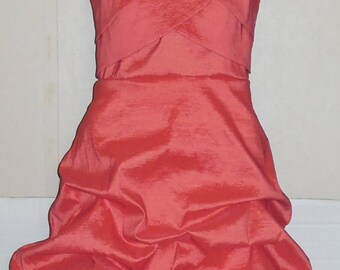 Dark Pink Strapless Party Dress Puffy Skirt Back Zip XOXO 7 XS to S