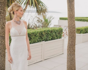 Elegant Ivory Fishtail Wedding Gown - Ilana from the Eira Collection
