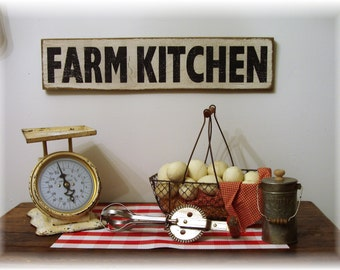 Reclaimed wood Farm Kitchen country farmhouse wood sign