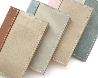 Passport Cover - Genuine leather, custom made in colors you choose- Free personalization