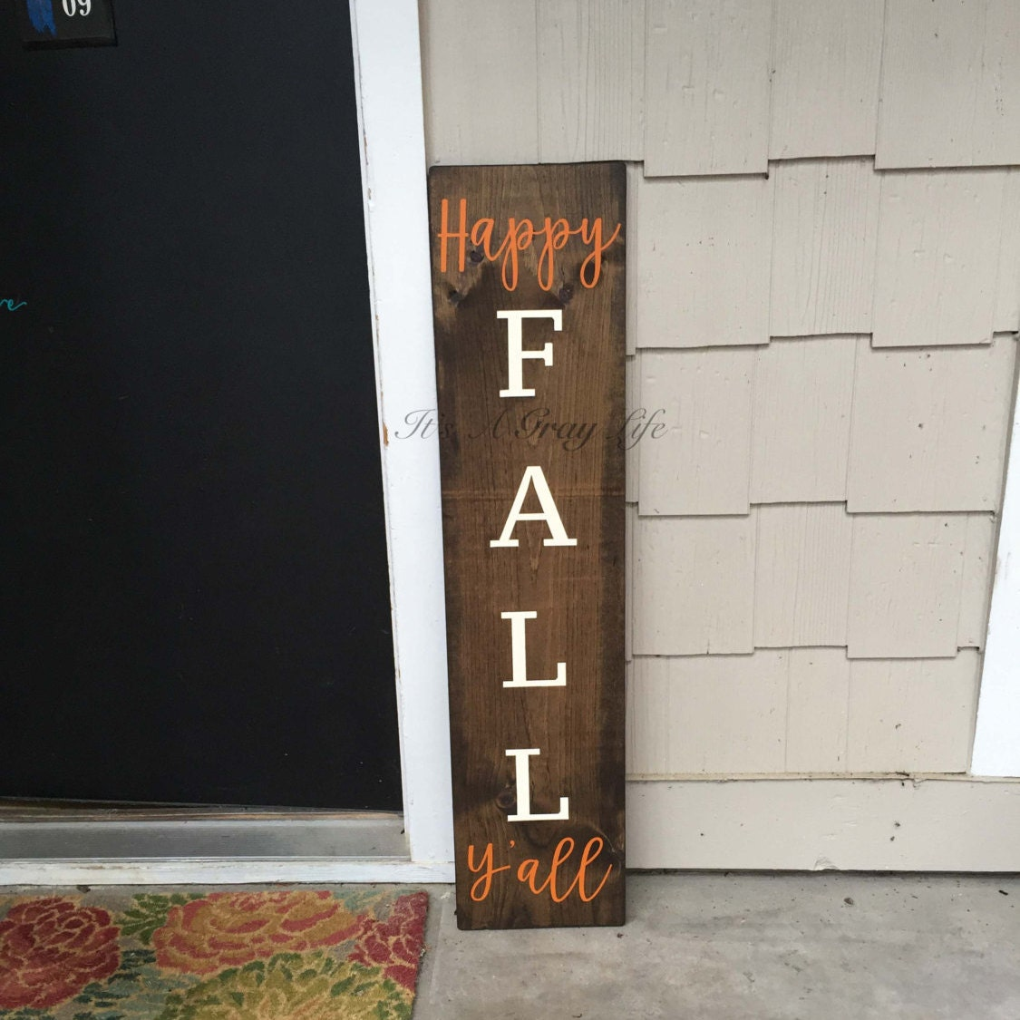 Happy fall yall welcome sign front porch sign fall zoom rubansaba
