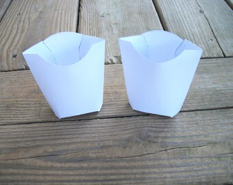 Printable Blank French Fry Carton Favor Gift Box Template