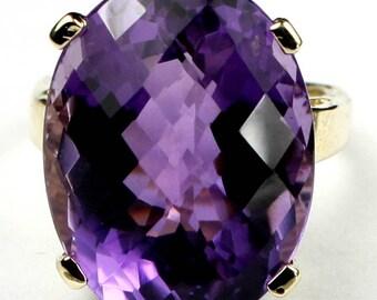 Amethyst, 14KY Gold Ring, R217