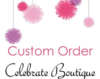 Custom Order ~ Add Name, Date of Event or other wording to one or more of our Products such as Invitations, Games Cards, Tags or Package
