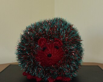 Harry Hedgehog (Hand knitted Hedgehog, Soft Cuddly Toy, Gift, Present, hedgehog gift).
